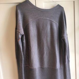 Lululemon yoga sattva sweater gray sz 8